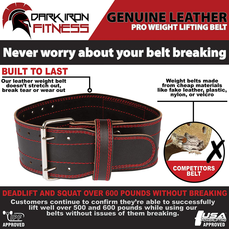Best Back Support Belt for Lifting - Dark Iron Fitness weightlifting belt