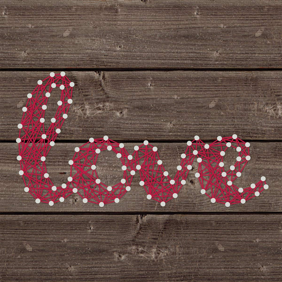 Jillibean-soup String Art KIT 8''X8''-Love
