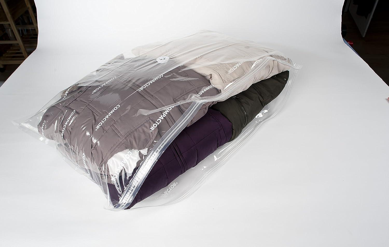 Pack of 3 Compactor Aspispace Space Saving Medium Vacuum Storage Bag For 1 single Duvet 55 x 90cm Clear