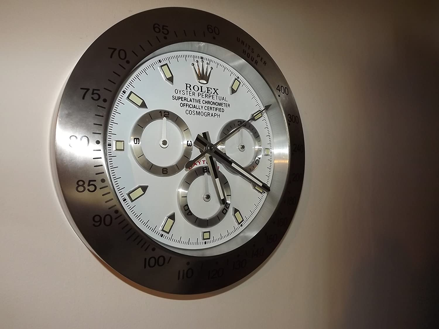 Rolex Daytona dealer display wall clock Amazoncouk Office Products
