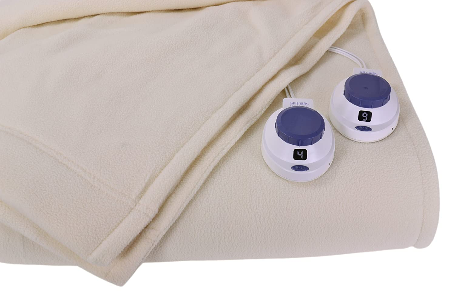 Soft Heat Luxury Micro-Fleece Low-Voltage Electric Heated King Size Blanket