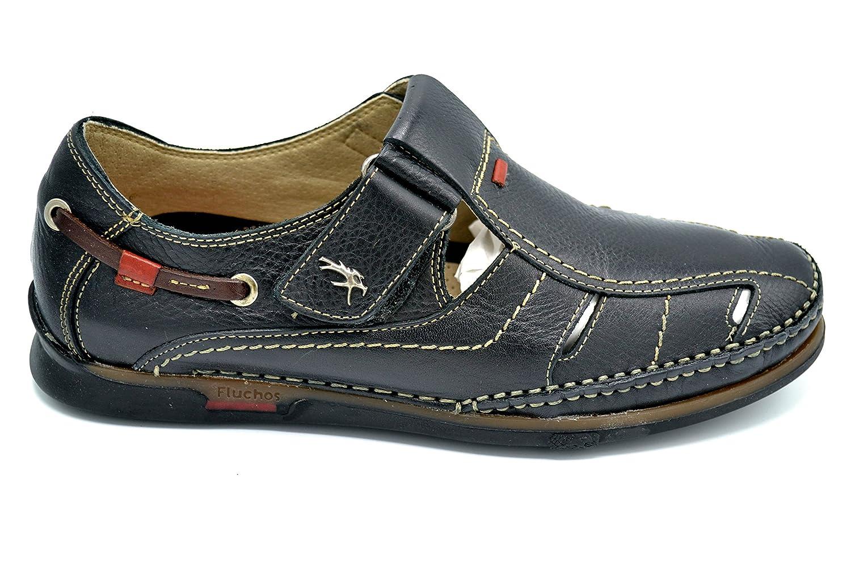 Fluchos 7575 Caballero Zapatos Negro De Para Tornado Sandalia Hombre 76Ybyfg
