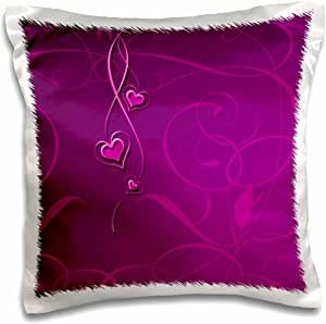 3drose Pc 108520 1 Elegant Dangling Hearts On Vine Design Fuchsia Pink Pillow Case 16 By 16 Arts Crafts Sewing Amazon Com