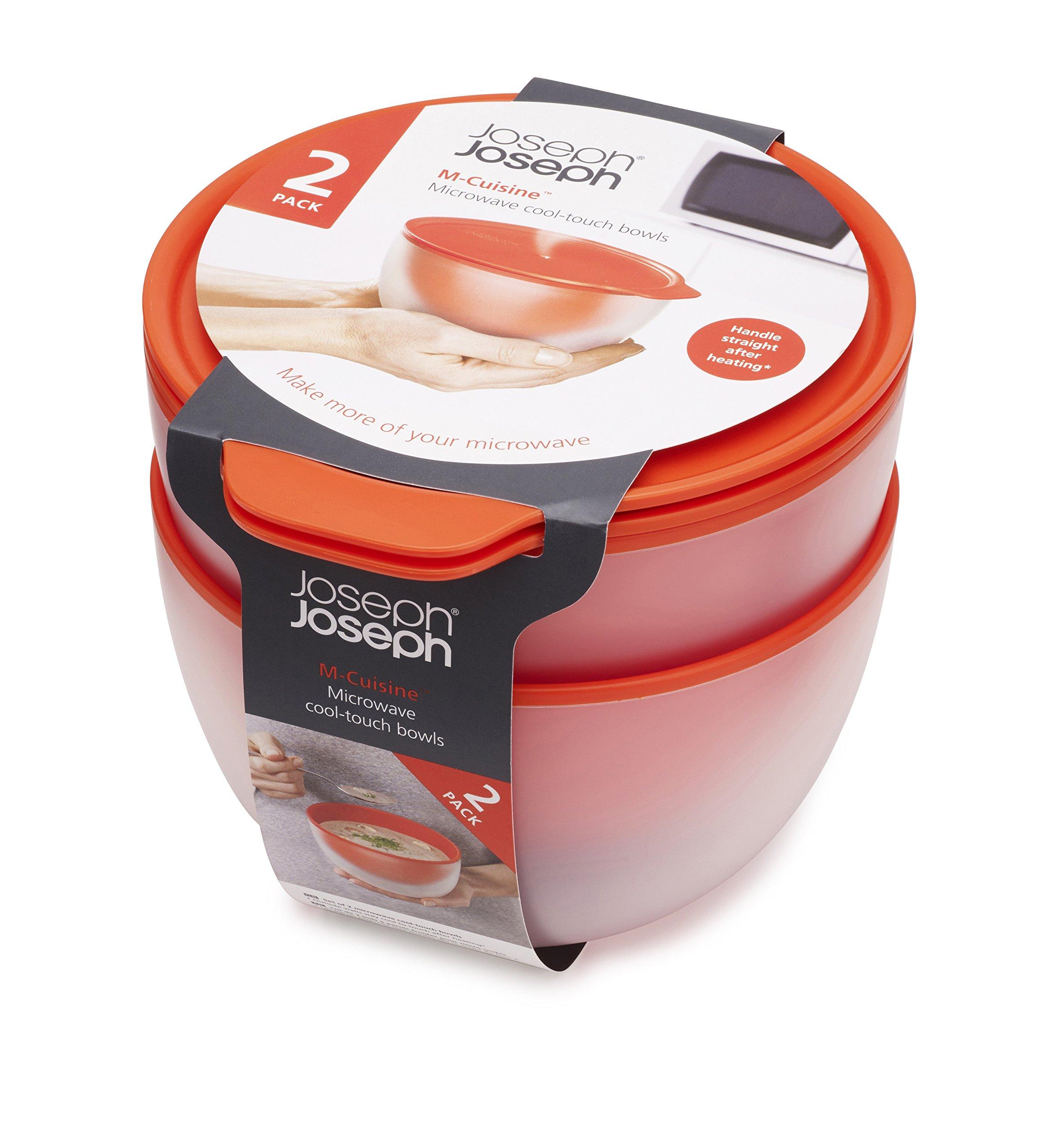 Joseph Joseph 45005 M-Cuisine Cool Touch Microwave Bowl Set of 2, Orange