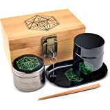 Vintage Stash Box Combo Kit - Ancient Symbol Design - Locking Wooden Bamboo Stash Box - Herb Grinder - Metal Rolling…