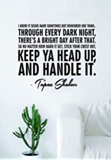 Tupac I Know It Seems Hard Version 202 Quote Wall Decal Sticker Room Art Vinyl Rap
