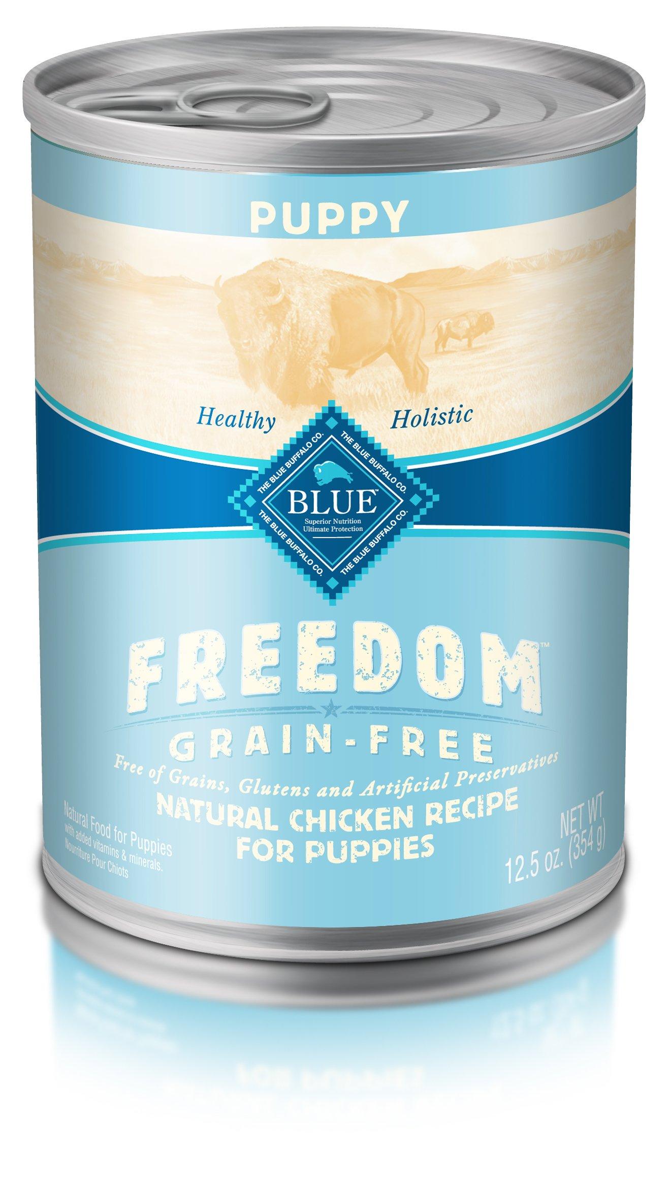 Blue Freedom Puppy Grain Free Chicken Wet Dog Food 12.5Oz (Pack Of 12)