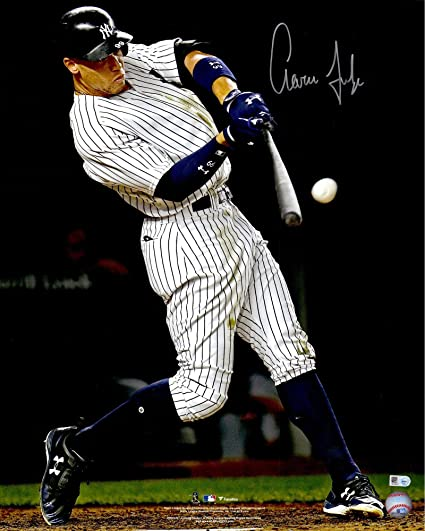 34ab37736d6 Aaron Judge New York Yankees Autographed 16 quot  x 20 quot  Hitting Home  Run Photograph -