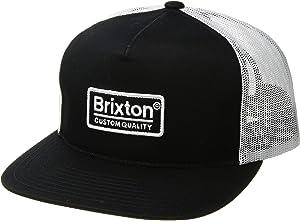efdc714b Amazon.com: Brixton Men's Palmer Medium Profile Adjustable MESH HAT ...