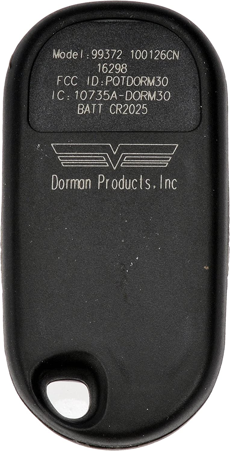 Black Dorman 99372 Keyless Entry Transmitter for Select Honda Models