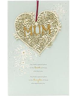 Hermosa tarjeta de cumpleaños para mamá con corazón de amor desmontable
