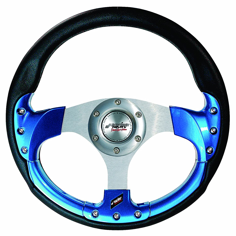 Simoni Racing SR EST330P Volant Sport 320 mm Cuir Noir//Bleu