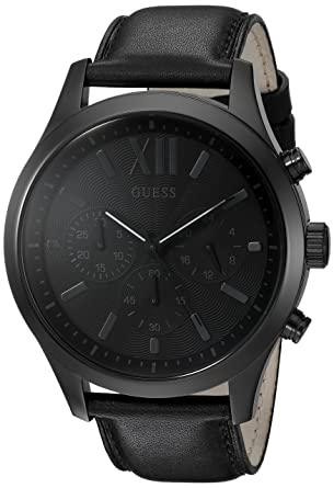 e188a07540b42 Amazon.com  GUESS Men s Black Chronograph Sport Watch  Watches