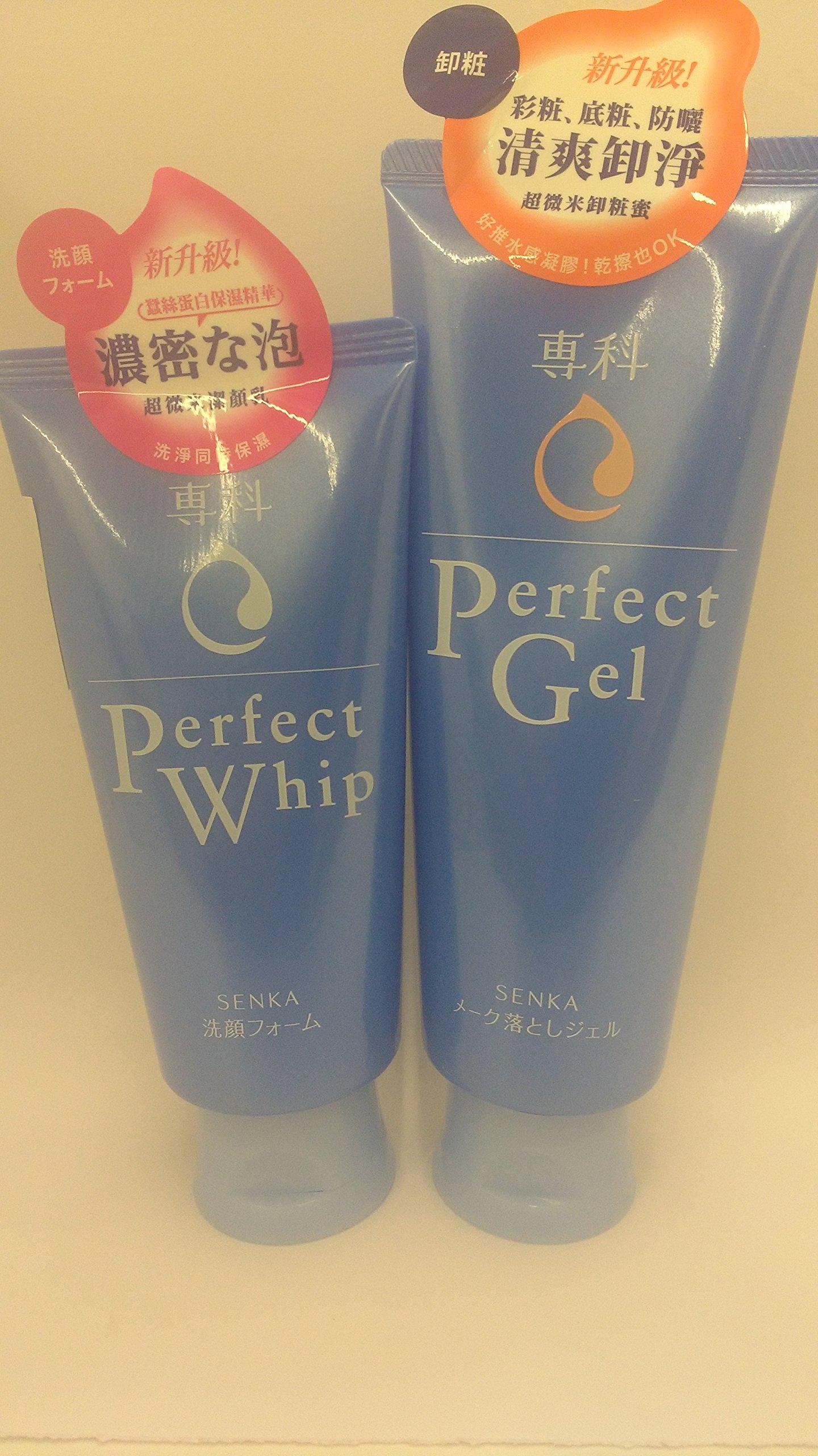 Shiseido FT SenganSenka Perfect Gel Makeup Cleansing 160g and Perfect Whip Facial Wash 120g set by SHISEIDO