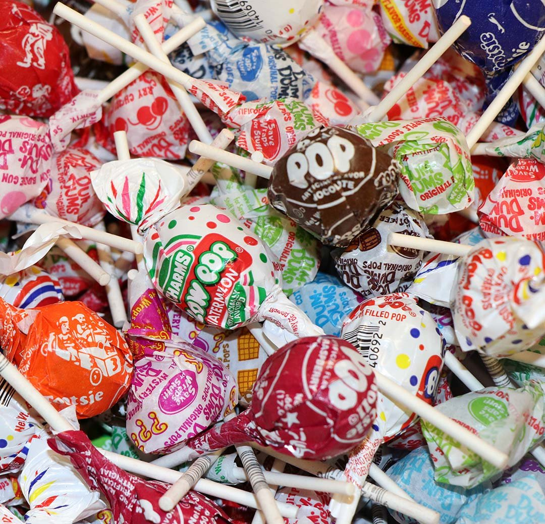 Suckers and Lollipops Bulk Candy 5 LBS Dum Dums, Blow Pops and Tootsie Roll Pops - Individually Wrapped Variety Pack Mixture - Catered Cravings Brand Custom Mix