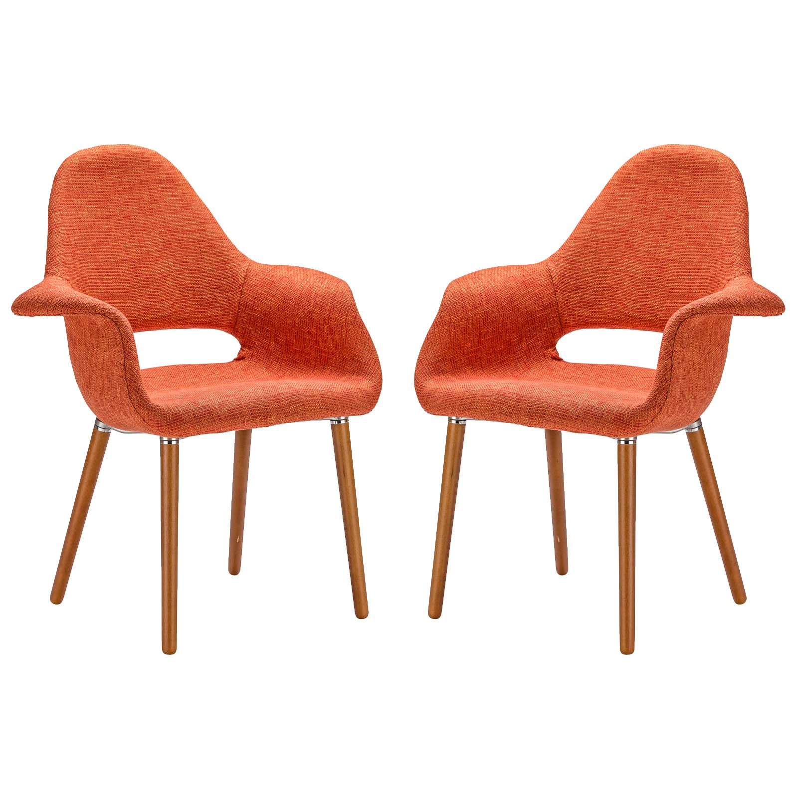 Poly and Bark Barclay Dining Chair in Orange (Set of 2) by Poly and Bark (Image #1)