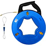 Aewio 30m(100FT) Fiberglass Electrical Wire Cable Fish Tape Reel Cable Puller