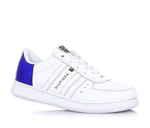 Tommy Hilfiger Z3285ero Jr 7a, Botines Chicos39, Azul (White-Surf The Web), 31 EU: Amazon.es: Zapatos y complementos