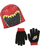 Berkshire Big Boys' Power Rangers Red Thunderzord Beanie and Glove Set