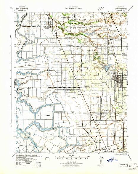 Amazon Com Yellowmaps Lodi Ca Topo Map 1 62500 Scale 15 X 15