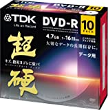 TDK データ用DVD-R 16倍速対応 ホワイトワイドプリンタブル キズや指紋ヨゴレに強いスーパーハードコート・ディスク 「超硬」シリーズ 10枚パック DR47HCPWC10A