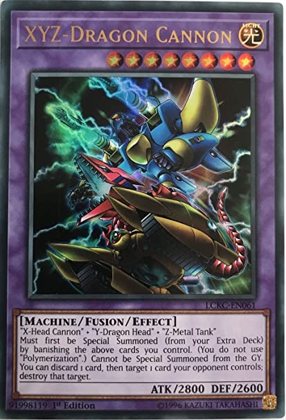 Amazon.com: YuGiOh xyz-dragon Cannon – lckc-en061 – Ultra ...