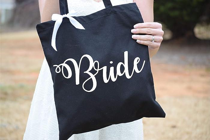 Amazon Com Bride Tote Bag Bride Gift Bag Bridal Tote