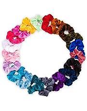 LEBEXY Samt Haargummis | Elastische Gummibänder Haarbänder Scrunchies | Pferdeschwanz Haarband Haaschmuck für Mädchen Frauen, 20 Stück