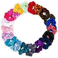 LEBEXY Samt Haargummis   Elastische Gummibänder Haarbänder Scrunchies   Pferdeschwanz Haarband Haaschmuck für Mädchen Frauen, 20 Stück