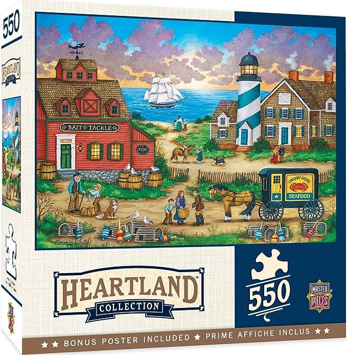 Balloons Over The Bay 550-Piece Jigsaw Puzzle MasterPieces Heartland