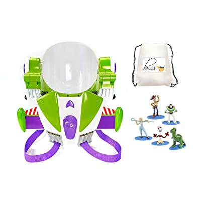 POG Private Label Owned Kids Girls Boys (Bonus Exclusive Porte ADRESSE LAFLANC) Toy Story Disney Pixar 4 Buzz Lightyear Space Ranger Armor Jet Pack & Mini Figurines Collector 5 Pack: Toys & Games
