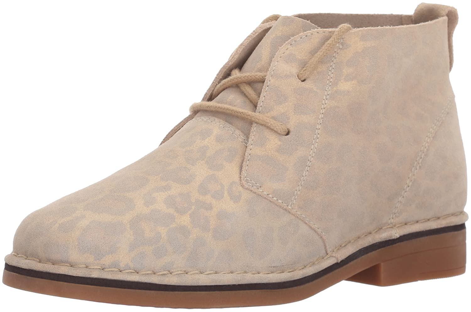 Hush Puppies Women's Cyra Catelyn Ankle Bootie B01N4TI46D 5.5 B(M) US|Natural Leopard Suede