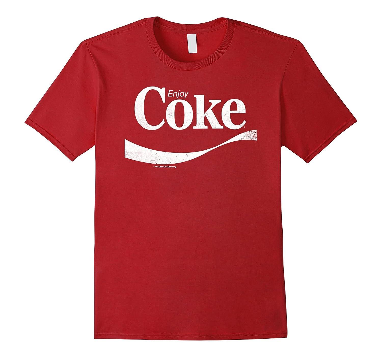 46838acb90b1b Coca-Cola Vintage Enjoy Coke White Logo Graphic T-Shirt-RT – Rateeshirt