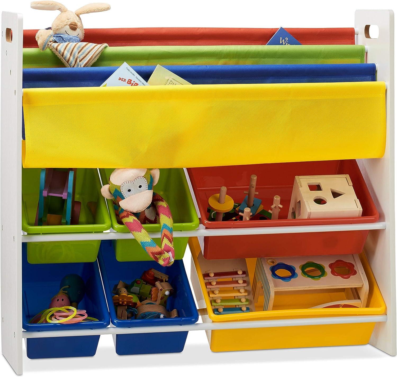 Kinderregal mit Regalboxen u. Hängefächern