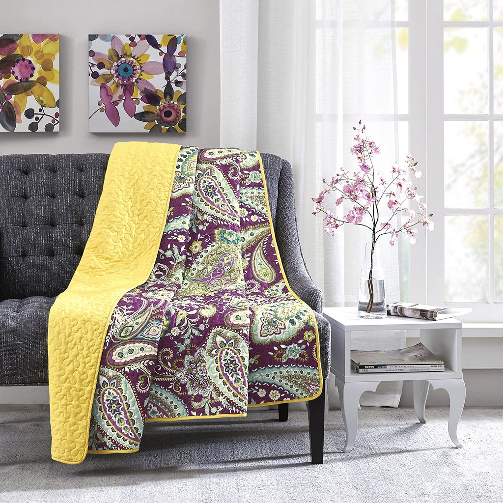 Intelligent Design Melissa Oversized Quilted Throw Purple