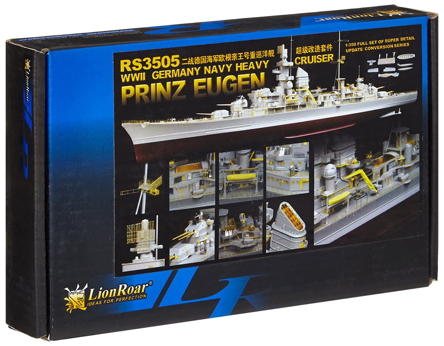 Lion Roar-GreatwallHobby RS3505 - WWII German German WWII Navy Heavy Cruiser Prince Eugen (TRU) 59d303