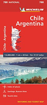 Michelin Chile Argentina Motoring and Tourist Map No. 788