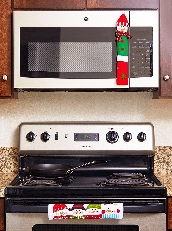 Ienjoyware Snowman Kitchen Appliance Handle Covers Set Of
