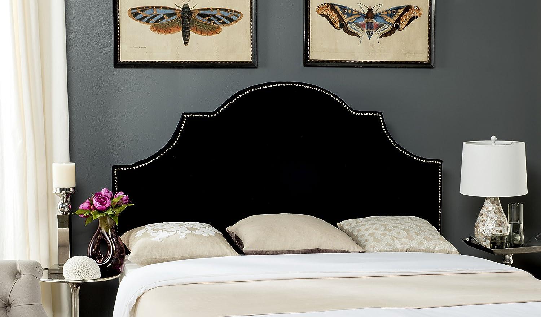 Safavieh Mercer Collection Hallmar Black Velvet Arched Headboard (Queen)
