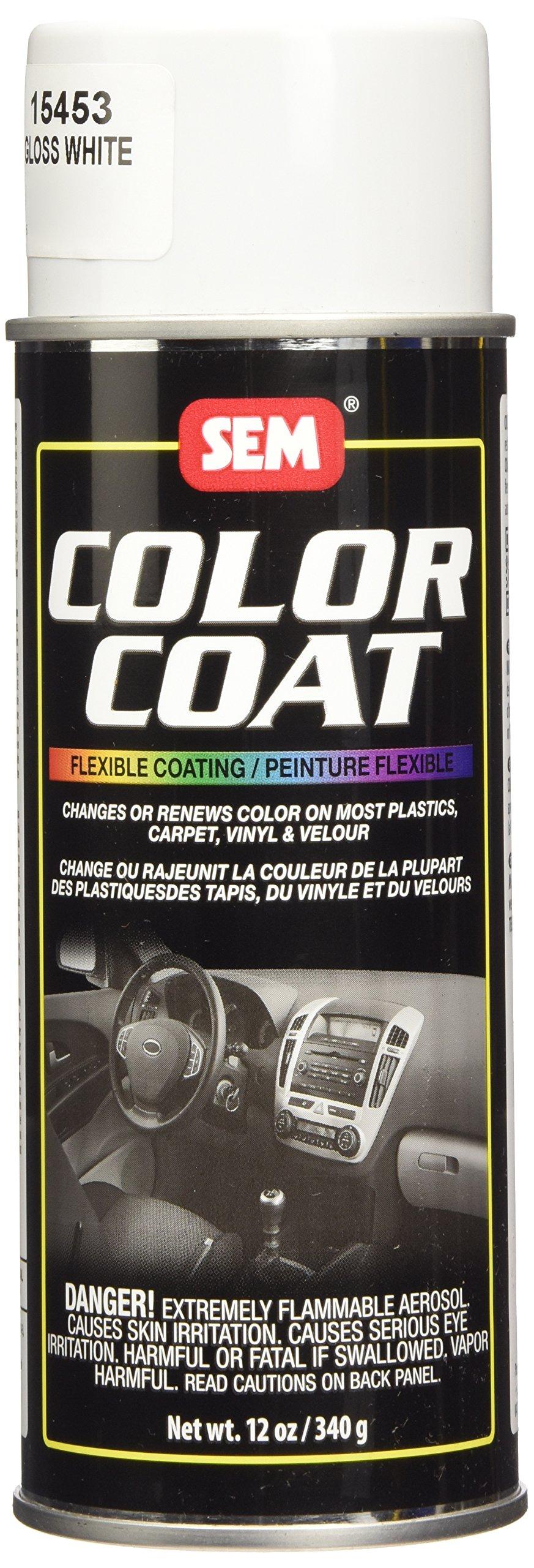 SEM 15453 Gloss White Color Coat - 12 oz.