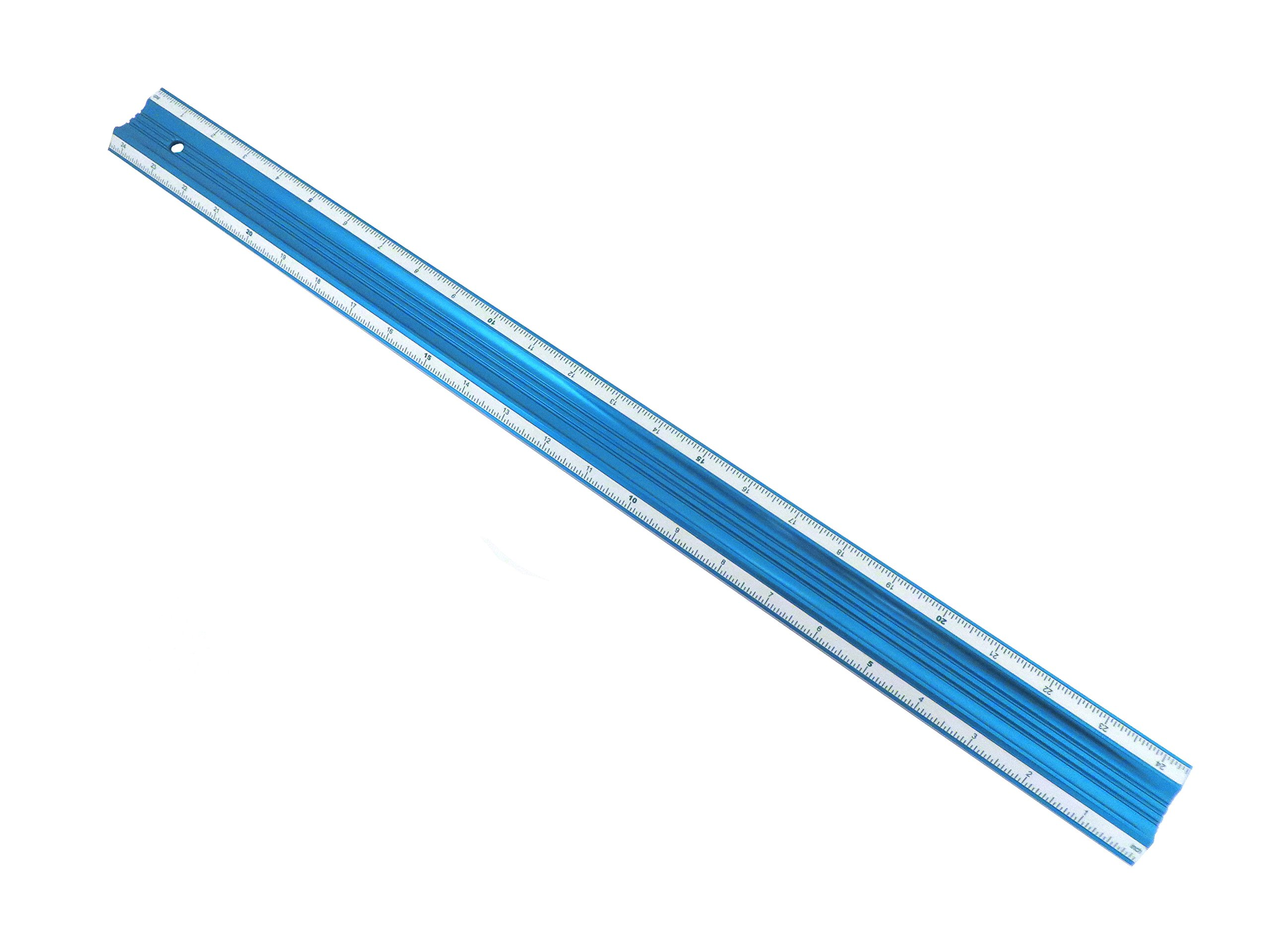 24'' Anodized Aluminum Bevel Edge Straight Edge Guaranteed Straight to Within .001'' Over Full 24'''' Length BESE24