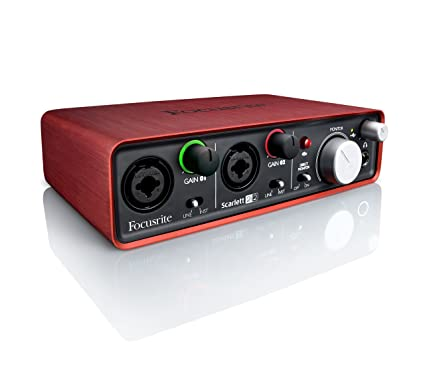 Focusrite Scarlett 2i2 G2 MKii 24/192 2 in/2 out USB Audio Interface  (Renewed)