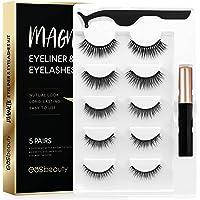 Amazon Price History for:easbeauty 2020 Upgraded Magnetic Eyeliner and Eyelashes Kit, Magnetic Eyelashes with Eyeliner, False Lashes 5 Pairs with…