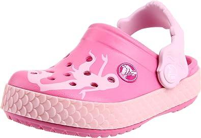C8 M US Pink Lemonade Crocs Baby Kids Disney Princess Clog|Water Shoe for Toddlers|Girls Slip On Sandal