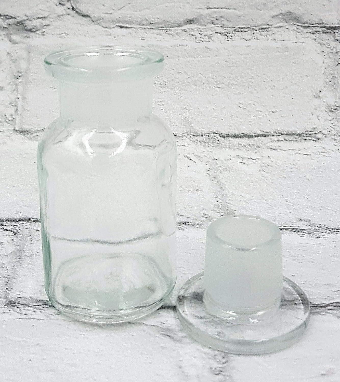 Botellas de vidrio transparente estilo vintage para productos químicos de 100 ml, color transparente: Amazon.es: Salud y cuidado personal