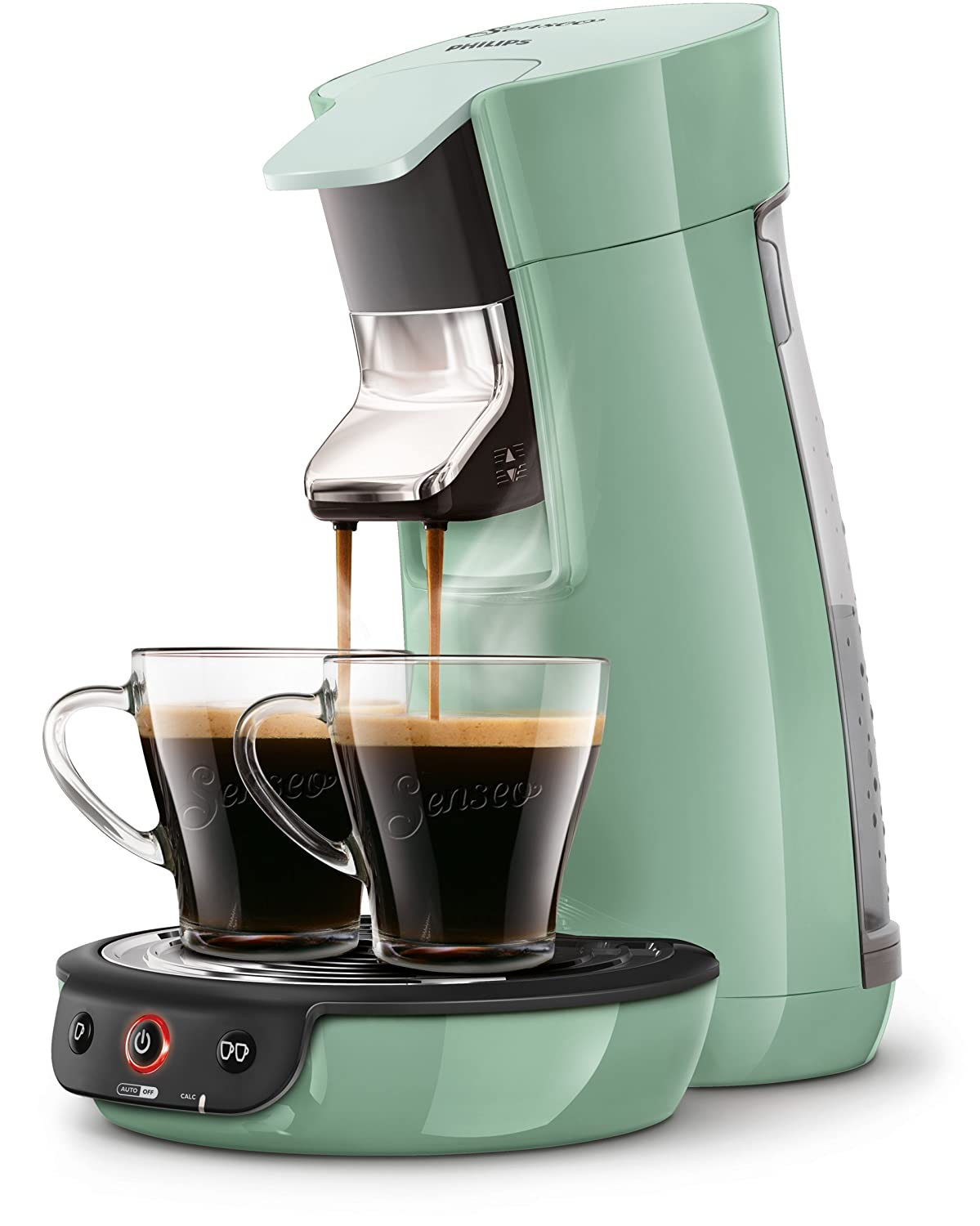 Senseo Viva Cafe HD7829/10 Pod coffee machine 0.9L Green coffee maker - coffee makers (freestanding, Pod coffee machine, Coffee pod, Caffe crema, Green, Buttons) SENSEO®