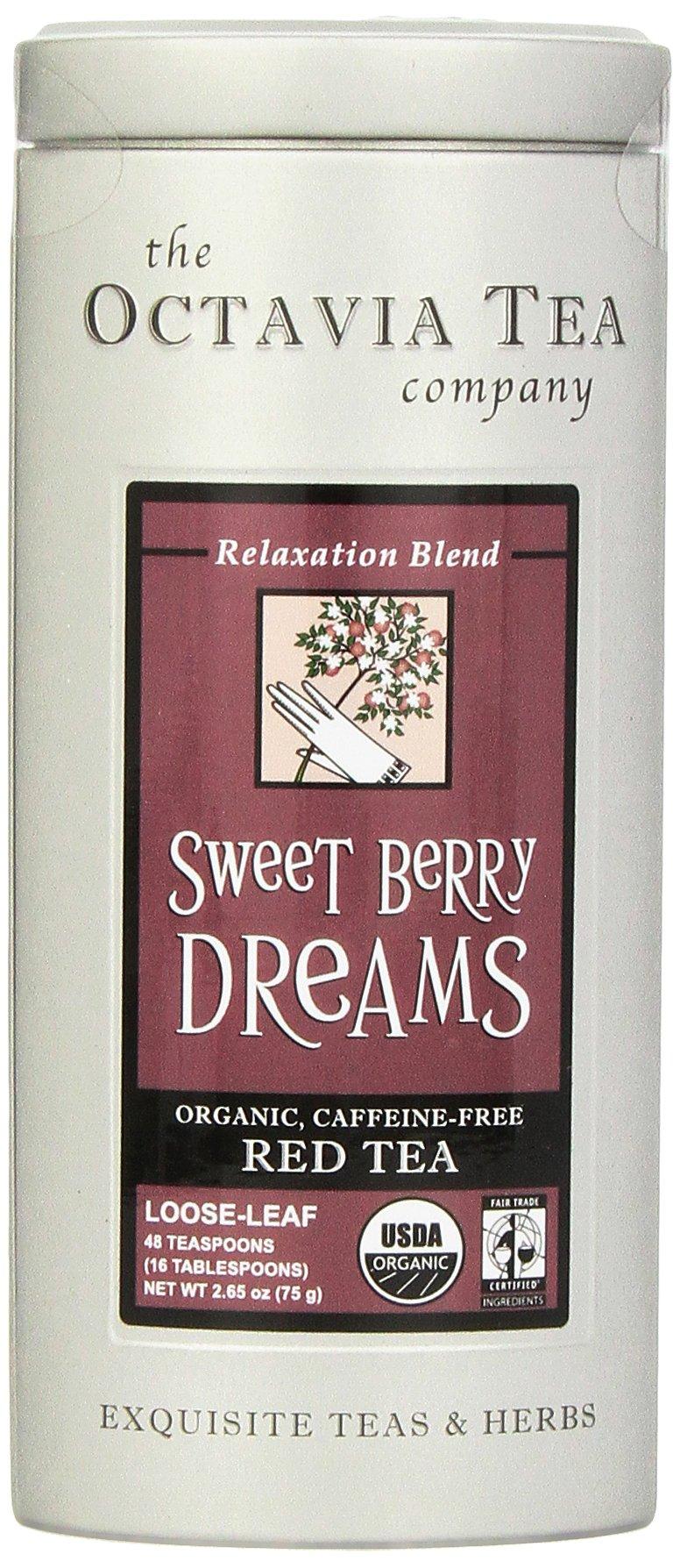Octavia Tea Sweet Berry Dreams (Organic, Caffeine-Free Red Tea/Rooibos) Loose Tea, 2.65 Ounce Tin by Octavia Tea