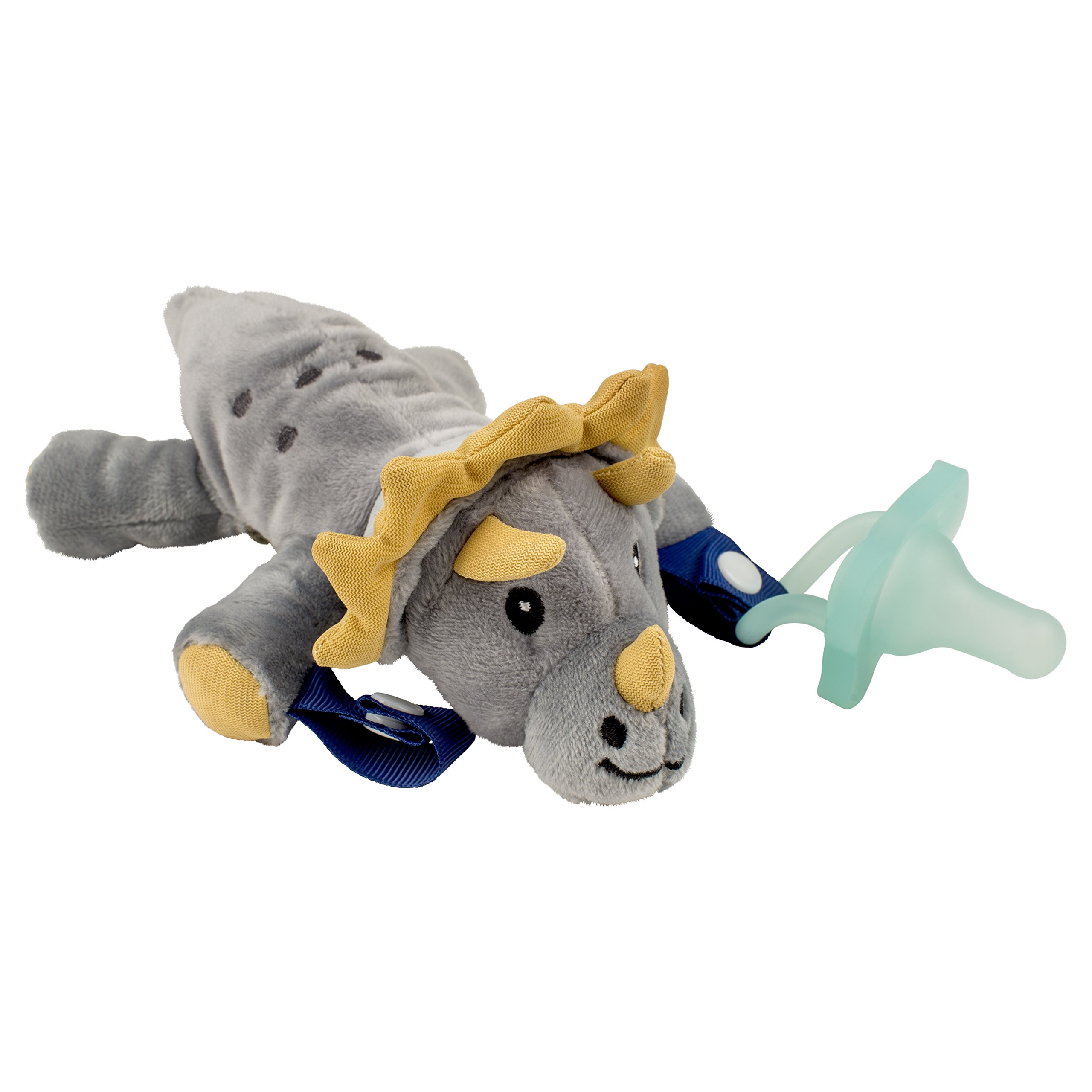 Dr. Browns Lovey Pacifier and Teether Holder, Triceratops with Teal, 0 Months+