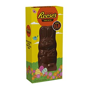 REESE'S Candy Chocolate Peanut Butter Filled Milk Chocolate Bunny, 1 Pound
