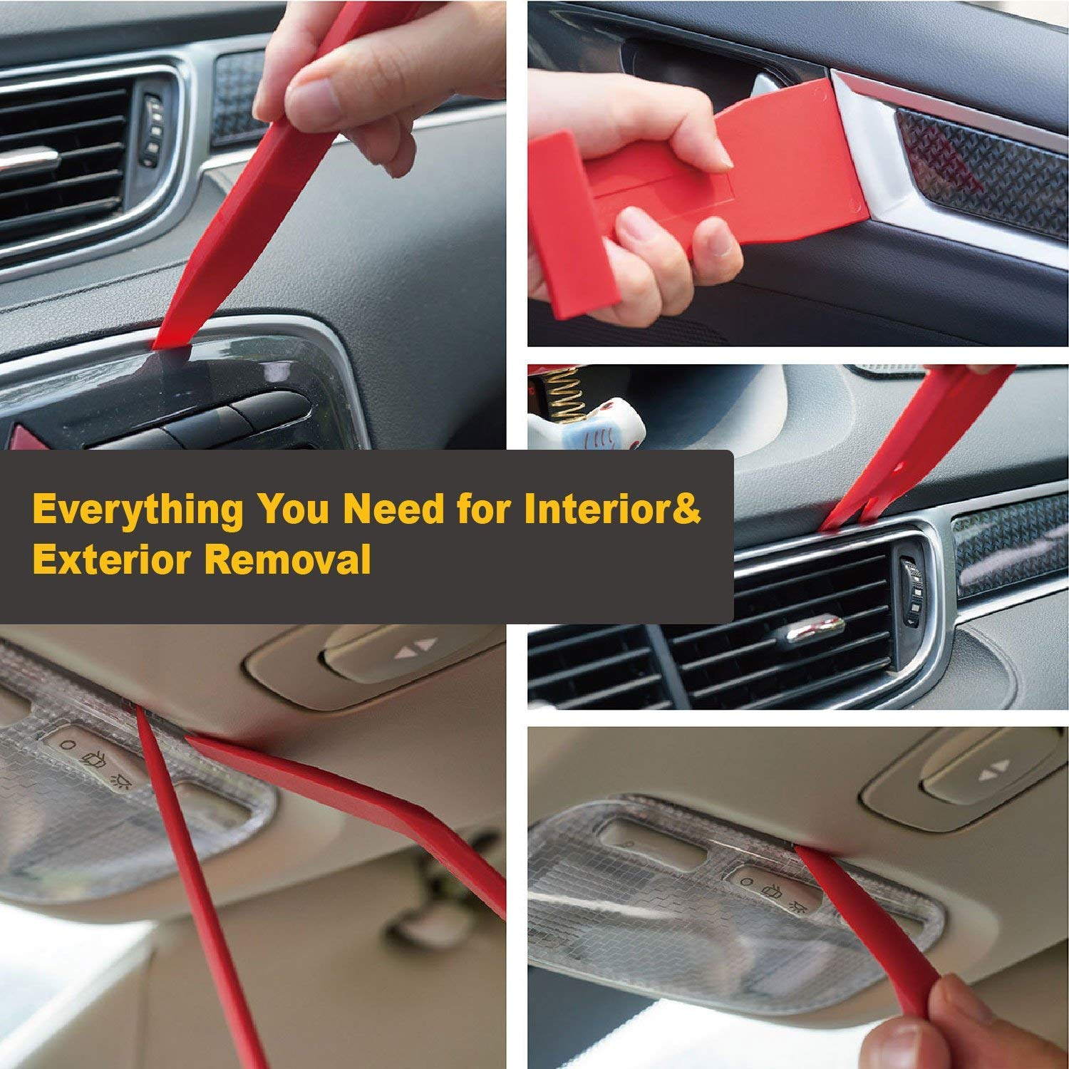 139pcs Car Trim Removal Tool with Car Retainer Clips Auto Door Panel Removal Tool Set with Clip Plier Set and Fastener Remover 139 pcs